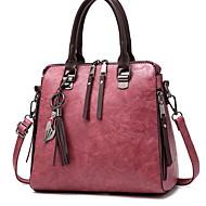 povoljno -Žene Patent-zatvarač PU Torba s ručkom Jedna barva Crn / Lila-roza / Blushing Pink