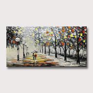 billige -Hang malte oljemaleri Håndmalte - Abstrakt Landskap Moderne Uten Indre Ramme