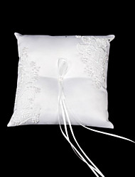 Grace Wedding Ring Pillow In Satin With Embroidery Wedding Ceremony