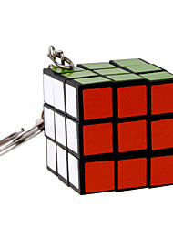 Magic Cube Key Chain Black Alloy Plastic Magic Cube Classic Style KeyRing KeyChain