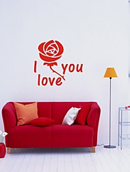cheap -Romance Florals Wall Stickers Plane Wall Stickers Decorative Wall Stickers, Vinyl Home Decoration Wall Decal Wall