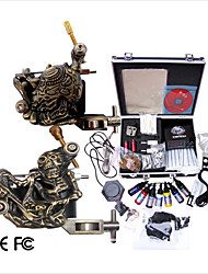 cheap -Professional Tattoo Machine Kit Completed Set With 2 Tattoo  Machines