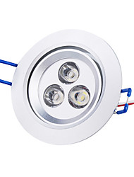 お買い得  -3000 lm シーリングライト 埋込式ライト 埋込み式 3 LEDの ハイパワーLED ナチュラルホワイト AC85-265V