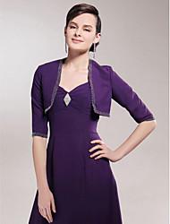 giacca da sposa in chiffon mezza manica / abito da sposa (49628) stile elegante