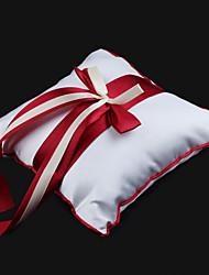 Недорогие -обручальное кольцо подушка в атласе с лентой лук свадебная церемония