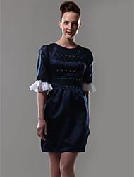 Fourreau / Colonne Bijoux Courte / Mini Organza Satin Soirée Cocktail Retour Robe avec Billes Volants par TS Couture®