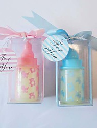 Baby Shower Party Favors & Gifts-4Piece/Set Candle Favors Non-personalised Pink / Blue