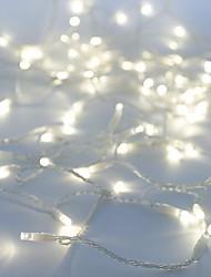 Недорогие -10 м Гирлянды 100 светодиоды ДИП светодиоды Белый Для вечеринок / Декоративная / Компонуемый 100-240 V 1шт