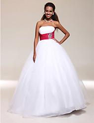 A-line abito da sera lunghezza senza spalline lunghezza abito da sera in tulle con cristallo da ts couture®