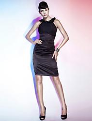 Vestito di festa chiffon di lunghezza del ginocchio del collo di scossa del rivestimento / colonna con il fiore di ts couture®