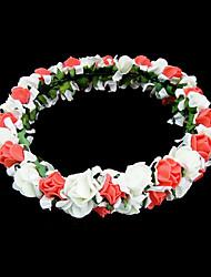 baratos -Mulheres Menina das Flores Espuma Capacete-Casamento Ocasião Especial Ao ar Livre Flores
