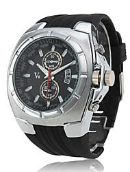 baratos -Relógio Movimento POC com Bracelete de silicone