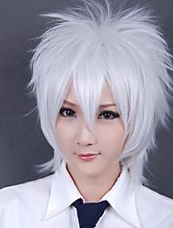 preiswerte -Cosplay Perücken Gintama Gintoki Sakata Weiß Kurz Anime Cosplay Perücken 30 CM Hitzebeständige Faser Mann