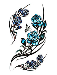 cheap -#(5) pattern waterproof flower series tattoo stickers