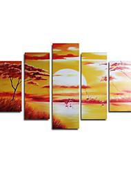 levne -ručně malované abstraktní olej s rozprostřeným rámem - sada 5