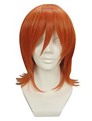 Parrucche Cosplay One Piece Nami Arancione Corto Anime Parrucche Cosplay 32 CM Tessuno resistente a calore Donna