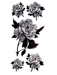 preiswerte -Tattoo Aufkleber Blumen Serie Muster Waterproof Damen Girl Teen Flash-Tattoo Temporary Tattoos