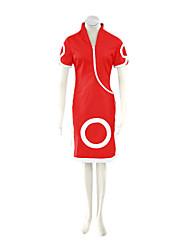 preiswerte -Inspiriert von Naruto Sakura Haruno Anime Cosplay Kostüme Cosplay Kostüme Kleider Druck Kurzarm Cheongsam Unterhose Für Frau