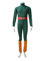 cheap -Inspired by Naruto Rock Lee Anime Cosplay Costumes Cosplay Suits Patchwork Long Sleeves Leotard Belt Leg Warmers For Male
