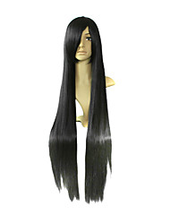 cheap -Cosplay Wigs K-ON Mio Akiyama Black Long Anime Cosplay Wigs 100 CM Heat Resistant Fiber Female