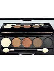 5 Paleta de Sombras Brilho Paleta da sombra Pó Normal Maquiagem para o Dia A Dia / Maquiagem Esfumada