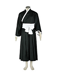cheap -Inspired by Cosplay Cosplay Anime Cosplay Costumes Cosplay Suits Kimono Patchwork Long Sleeves Belt Hakama pants Kimono Coat For Men's