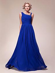 a-line cinghie madre chiffon lunghezza del vestito da sposa con bordatura bordare bordatura increspatura pieghe da aimite