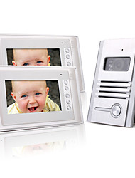 cheap -Two 7 Inch Color TFT LCD Video Door Phone Intercom System (1 Alloy Camera)