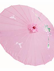 Soie Ventilateurs et parasols Pièce / Set Parasols Thème floral Rose Hauteur : 48cm   Diamètre : 82cm 48cm de haut