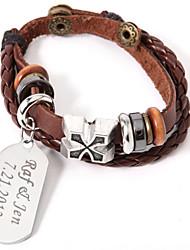 povoljno -Muškarci Žene Uniseks Jewelry Personalized Koža Legura Jewelry Party godišnjica Rođendan Angažman Dar Dnevno Nakit odjeće