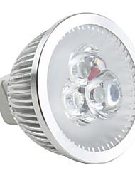 gu5.3 (mr16) led spotlight mr16 3 høj power led 190lm naturlig hvid 6500k dimbar dc 12v
