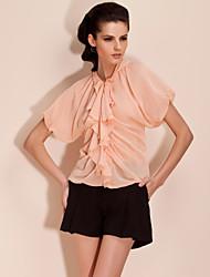 economico -ts bat sleeve volant scollatura blusa shirt (più colori)