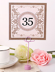 cheap -Pearl Paper Table Number Cards Poly Bag 10