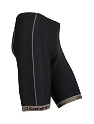 billige -SANTIC Herre Cykelshorts med indlæg - Sort Cykel Shorts, Hurtigtørrende Polyester