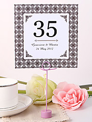 cheap -Personalized Square Table Number Card - Old Style