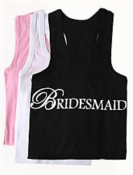 abordables -100% Coton Vêtements Mariée Fille d'honneur Mariage
