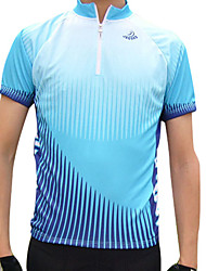 cheap -Jaggad Cycling Jersey Men's Short Sleeve Bike Jersey Tops Quick Dry Breathable Polyester Patchwork Spring Summer Cycling/Bike Green Blue