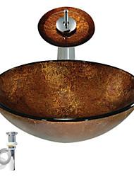 Недорогие -монтажное кольцо для ванной / водосток для кухни Современный - Закаленное стекло Круглый