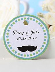 cheap -Personalized Favor Tag - Mustache (Set of 36) Wedding Favors Beautiful
