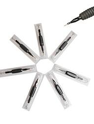20 pcs pretos descartáveis agulhas de tatuagem e tubos de 7m2 de abastecimento de aderência