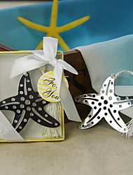 Starfish Stainless Steel Bookmark Favor With Tassel