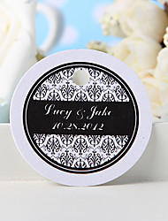 baratos -Tag de favor personalizado - impressão floral preto (conjunto de 36) favores de casamento