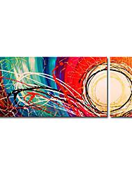 povoljno -Ručno oslikana Sažetak Vodoravna panoramska Platno Hang oslikana uljanim bojama Početna Dekoracija Dvije plohe