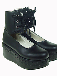 abordables -Chaussures Gothique Lolita Plateau Chaussures Couleur Pleine 7 CM Pour Cuir PU/Cuir polyuréthane Cuir polyuréthane