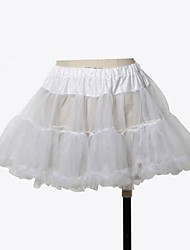 Skirt Classic/Traditional Lolita Princess Cosplay Lolita Dress Solid Short Length Dress For Organza