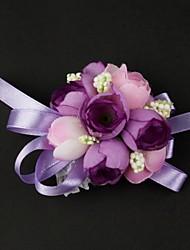 """Недорогие -Свадебные цветы Букетик на запястье Свадьба Satin / Хлопок 3,15""""(около 8см)"""