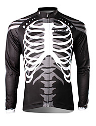 cheap -SPAKCT Cycling Jersey Men's Long Sleeves Bike Jersey Top Thermal / Warm Quick Dry Ultraviolet Resistant Breathable 100% Polyester Skulls