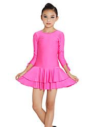 cheap -Latin Dance Dresses Performance Spandex Long Sleeve