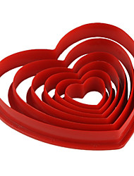 cheap -Mold Heart For Pie For Cookie For Cake Plastic Eco-friendly DIY Valentine's Day