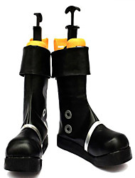 Stivali cosplay One Piece Portgas D. Ace Anime Scarpe Cosplay Nero Cuoio Uomo